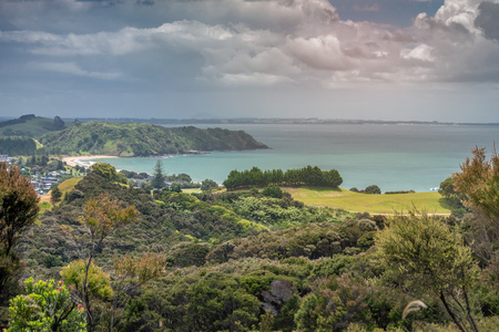 View of Cable bay in the far north of new zealand