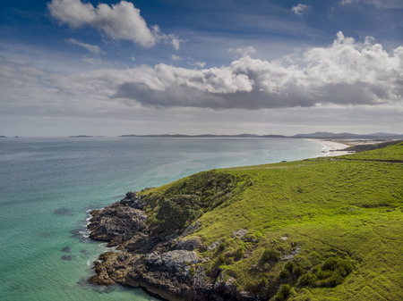 A beautiful drone photo of Puheke in the Karikari peninsula, Far North of New Zealand