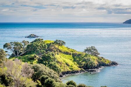 Hiking on the beautiful coast of Doubtless Bay in the Far North of New Zealand
