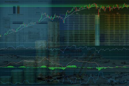 Picture of stock market and economic data
