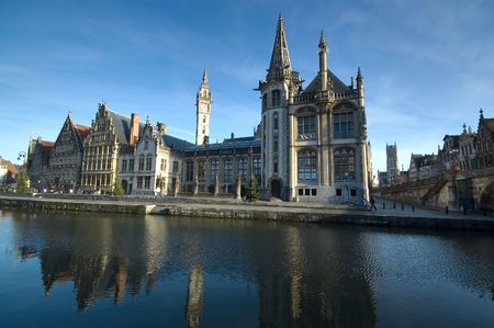 The historic town of Ghent, Belgium photo