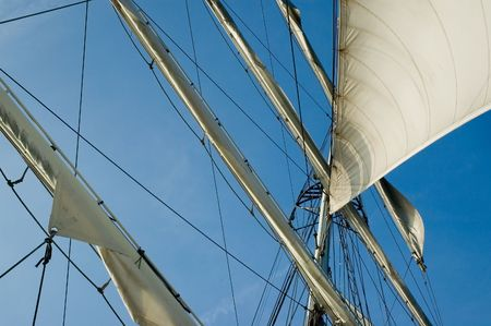 Sails on an old ship