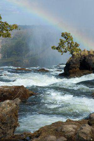 Victoria Falls in Zambia, large waterfalls photo
