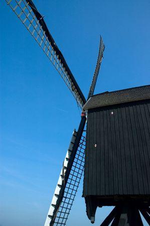 Wooden windmill photo