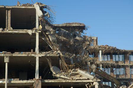 deconstruct: Demolition of a building