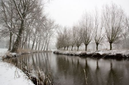 Winter landscape. Taken in Eindhoven, The Netherlands februari 2007. Stock Photo - 2909867