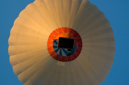 inflating: Hot Air Balloon seen from below