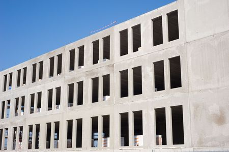 erect: Construction of a new commercial building