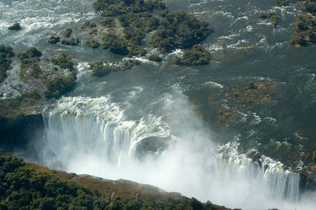 Aerial view of the Victoria Falls on the border of Zambia and Zimbabwe Stock Photo - 4846308