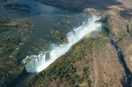 Aerial view of the Victoria Falls on the border of Zambia and Zimbabwe Stock Photo - 4855231