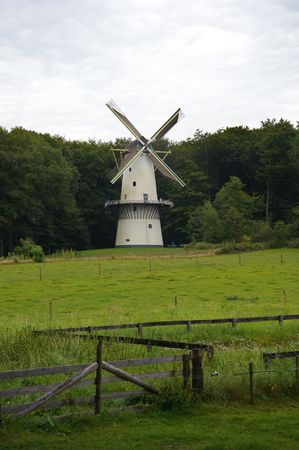 Dutch landscape with windmill and meadow Stock Photo - 5473848