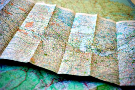 Planning route of trip with a map