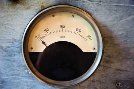Old electric Volt meter scaling from 0 to 250 Volts Stock Photo - 5538026
