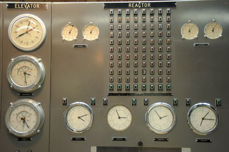 Control room of a nuclear power plant Stock Photo