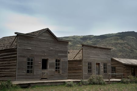 Old western town in the USA photo