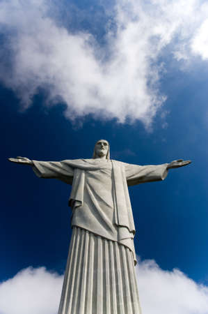 The art deco Christ the Redeemer statue in Rio de Janeiro photo