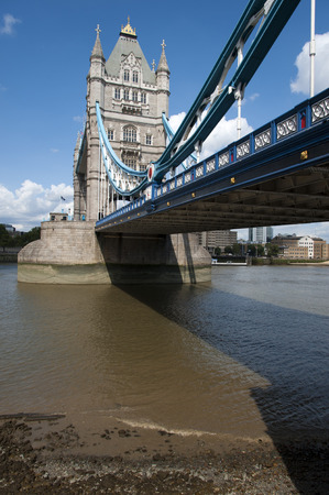 low perspective: LONDON, UK - AUGUST 6: Tower Bridge of London Editorial