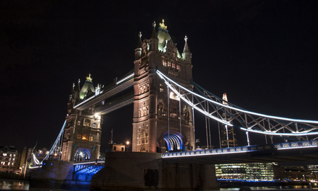 Tower Bridge of London in the evening
