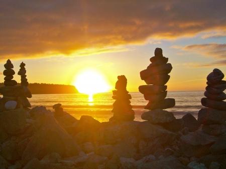 west  coast: Sunset at Bruce Bay, West Coast, South Island, New Zealand
