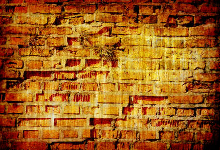 abstract grunge brick wall background texture for multiple uses photo
