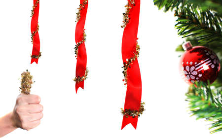 Christmas decoration over white background Stock Photo - 5962497