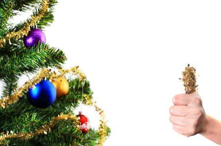 Christmas decoration over white background Stock Photo - 6005667