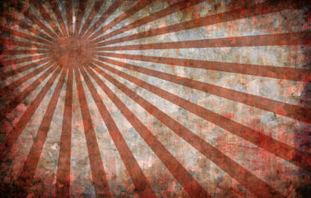abstract red vintage grunge background with sun rays for multiple uses  photo