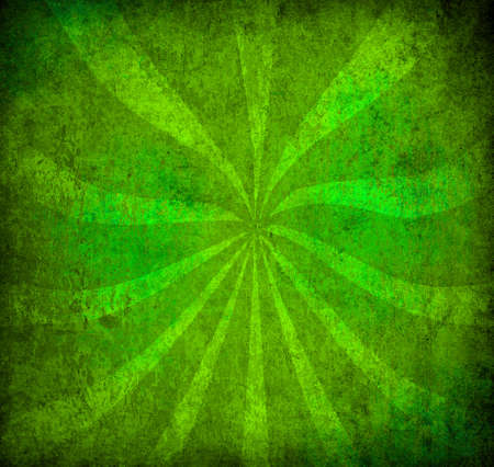 sun burnt: abstract green vintage grunge background with sun rays for multiple uses