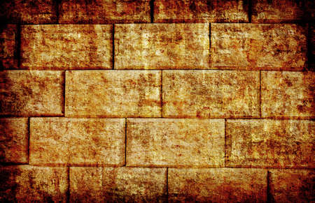 abstract yellow brick wall grunge background for multiple uses photo