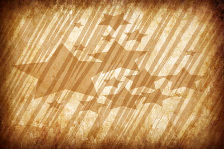 sun burnt: abstract vintage grunge background with stars for multiple uses  Stock Photo
