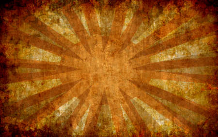 abstract yellow vintage grunge background with sun rays for multiple uses  photo