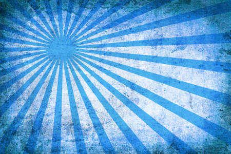 sun burnt: blue vintage grunge background with sun rays for multiple uses