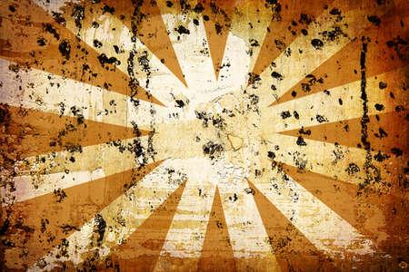 sun burnt: orange vintage grunge background with sun rays for multiple uses