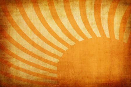 sun burnt: yellow vintage grunge background with sun rays for multiple uses  Stock Photo