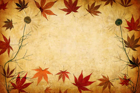 abstract grunge floral background with leaves for multiple uses photo