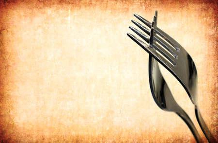 cubiertos de plata: fondo vintage tenedor abstracta para m�ltiples usos