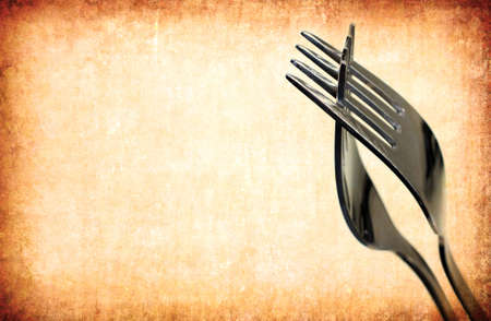 grunge silverware: vintage abstract fork background for multiple uses