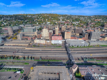 Duluth is a popular Tourist Destination in the Upper Midwest on the Shores of Lake Superior in Far North Minnesota Sajtókép