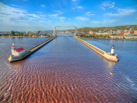 Duluth is a popular Tourist Destination in the Upper Midwest on the Shores of Lake Superior in Far North Minnesota Imagens