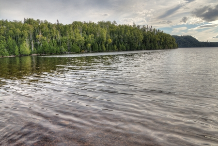 Sleeping Giant is a large Provincial Park on Lake Superior north of Thunder Bay in Ontario 版權商用圖片
