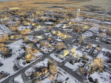 Woonsocket is a Small Farming Community in Rural South Dakota by Huron Stock Photo