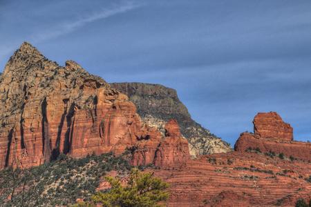 Sedona, Arizona has beautiful orange rocks and pillars in the desert