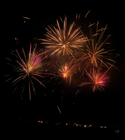 A huge Display of Fireworks at the Sioux Falls Fairgrounds during a Convention