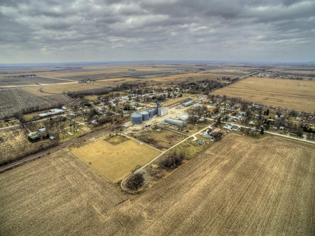 Modale is a small farming town in rural Iowa 스톡 콘텐츠