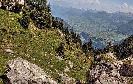 Mt. Pilatus is a popular Tourist Destination in the European Country of Switzerland