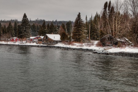 Hovland는 Grand Marais 북쪽 미네소타의 Lake Superior 북쪽 해안에있는 작은 커뮤니티입니다. 스톡 콘텐츠 - 102256613