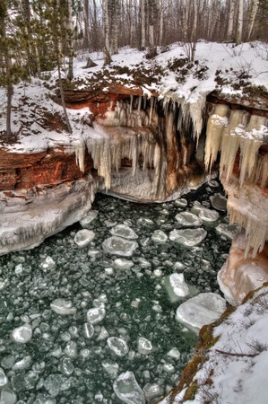 The Apostle Islands National Lake Shore are a popular Tourist Destination on Lake Superior in Wisconsin