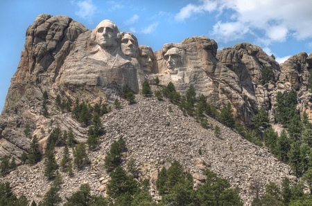 Mt. Rushmore is a National Monument in the American State of South Dakota