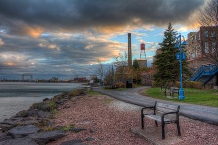 A calm summer night in Duluth, Minnesota Stok Fotoğraf