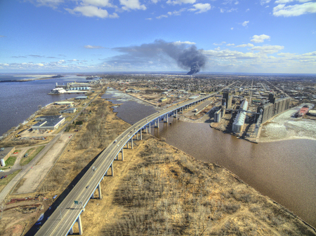 The Husky Refinery in Superior, Wisconsin exploded in April 2018